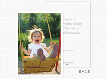 Peace.Love.Joy Holiday Photo Cards