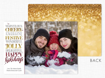 Beyond Expectations Holiday Flat Photo Cards